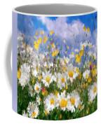 Daisies On A Hill - Impressionism Coffee Mug