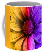 Daisy Daisy Yellow To Purple Coffee Mug
