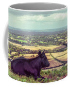 Daisy Enjoys The View From Truleigh Hill Coffee Mug