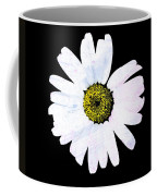 Daisy On Black Coffee Mug