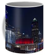 Dallas Skyline Arts District At Night Coffee Mug