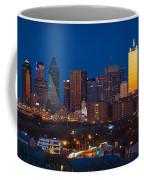 Dallas Skyline Panorama Coffee Mug