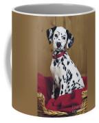 Dalmatian In Basket A108 Coffee Mug
