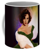 Dame Elizabeth Rosemond 'liz' Taylor - Featured In 'comfortable Art' Group Coffee Mug