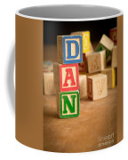Dan - Alphabet Blocks Coffee Mug