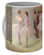 Dancers In The Wings At The Opera Coffee Mug by Jean Louis Forain