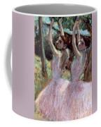 Dancers In Violet Dresses Coffee Mug