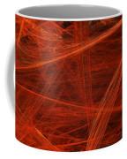 Dancing Flames 1 H - Panorama - Abstract - Fractal Art Coffee Mug