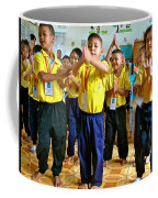 Dancing Kindergarten Students At Baan Konn Soong School In Sukhothai-thailand Coffee Mug