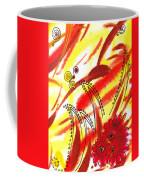 Dancing Lines And Flowers Abstract Coffee Mug