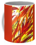 Dancing Lines Hot Abstract Coffee Mug