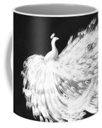 Dancing Peacock Black Coffee Mug