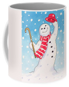 Dancing Snowman Coffee Mug by Lavinia Hamer