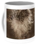 Dandelion Burst Sepia Coffee Mug