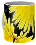 Dandelion Expressive Brushstrokes Coffee Mug