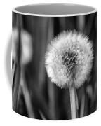Dandelion Fluff Black And White Coffee Mug
