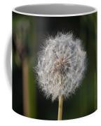 Dandelion With Abstract Grasses Coffee Mug