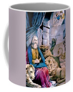 Daniel In The Lions Den Coffee Mug by Currier and Ives