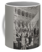Daniel Interpreting The Writing On The Wall Coffee Mug by Gustave Dore
