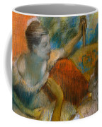 Danseuse A L'eventail Coffee Mug by Edgar Degas