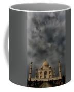 Dark Clouds Over Taj Mahal Coffee Mug