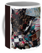 Dark Colored Blocks Patchwork Quilt  Coffee Mug