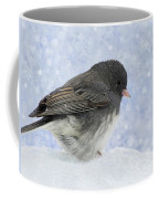 Dark Eyed Junco - Digital Snowflakes Coffee Mug