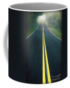 Dark Foggy Country Road Coffee Mug