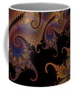 Dark Paisley Tails Coffee Mug
