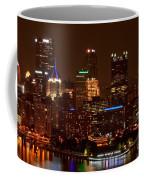 Dark Pittsburgh Skyline Coffee Mug