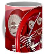 Dashboard Red Classic Car Coffee Mug