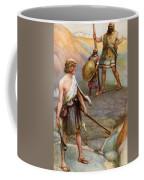David And Goliath Coffee Mug by Arthur A Dixon