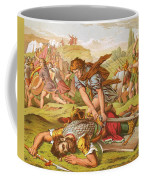 David Slaying The Giant Goliath Coffee Mug by English School