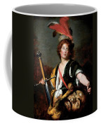 David With The Head Of Goliath, C.1636 Oil On Canvas Coffee Mug