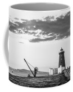 Davit And Lighthouse On A Breakwater Coffee Mug