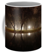 Dawn Mist Rising At Sycamore Pool  Coffee Mug