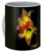 Day Lily On Black Coffee Mug