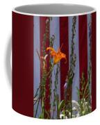 Daylily And Old Glory Coffee Mug