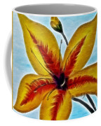 Daylily Expressive  Brushstrokes Coffee Mug