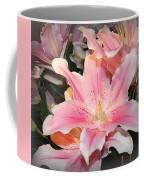 Pink Daylily In Bloom Coffee Mug