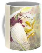 Daylily Photoart With Verse Coffee Mug