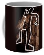 Dead Man Outline On Floor Coffee Mug