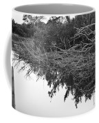 Deadfall Reflection In Black And White Coffee Mug
