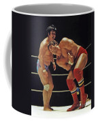 Dean Ho Vs Don Muraco In Old School Wrestling From The Cow Palace Coffee Mug
