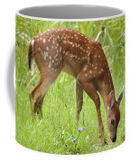 Little Fawn Blue Wildflowers Coffee Mug