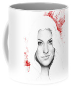 Debra Morgan Portrait - Dexter Coffee Mug by Olga Shvartsur