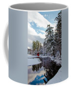 December Afternoon At The Red Boathouse Coffee Mug
