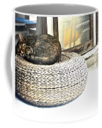 Deck Cat Coffee Mug