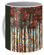 Decorative Abstract Floral Bird Landscape Painting Forest Of Dreams II By Megan Duncanson Coffee Mug by Megan Duncanson