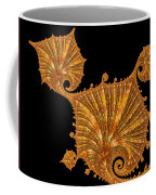Decorative Golden Floral Fractal Leaves Coffee Mug